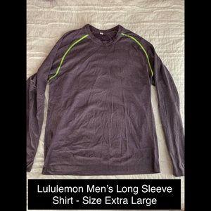 Men's long sleeve Metal Vent Tech lululemon shirt